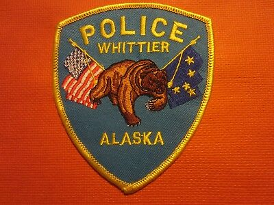 Collectible Alaska Police Patch,Whittier, New