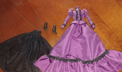 Barbie Doll Plum Outfit - 'haunted Beauty Mistress Of The Manor' - Unique
