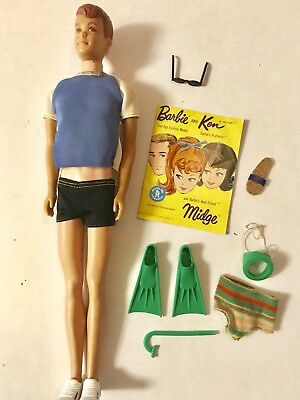 1960's Matel Alan Doll Eith Extra Outfit