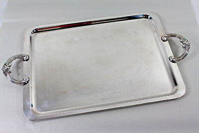 """Christofle Silverplate Double-handled Tray 21"""" x 12"""" from the Anne Anka Estate"""