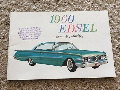 1960 Edsel  original dealership showroom deluxe color sales catalogue