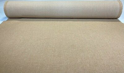 "Vintage Oatmeal Tan Tweed Automotive Seat Cover Fabric Upholstery Auto 55/""W"