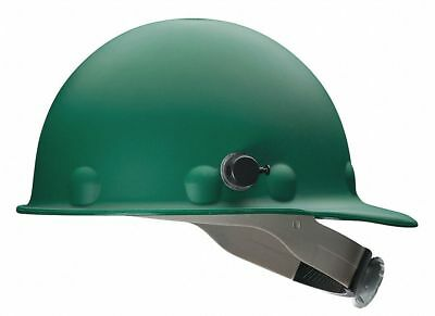 Front Brim Hard Hat, 8 pt. Ratchet Suspension, Green, Hat Size: 6-5/8 to 7-3/4