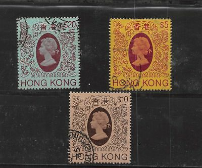 Lot of 3 Hong Kong Used Stamps Short Set Scott # 400a, 401, 402 #124081* X