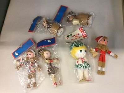 Lot of 6 Vintage Christmas Tree Ornaments Decorations