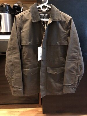 Filson Stone Washed Canvas Cruiser Jacket NWT Small Otter Green