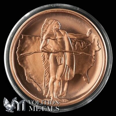5 Coins American Indian Series Oregon Trail 1 oz Copper Bullion Rounds