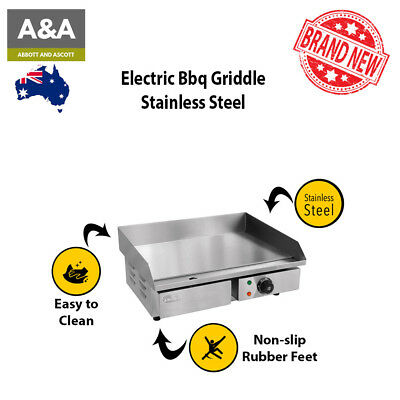 Stainless Steel Griddle Commercial Portable Bbq Electric Removable Grease Tray