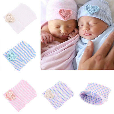 Baby Newborn Toddler Infant Boy Girl Heart Knitted Warm Beanie Hospital Hat Cap