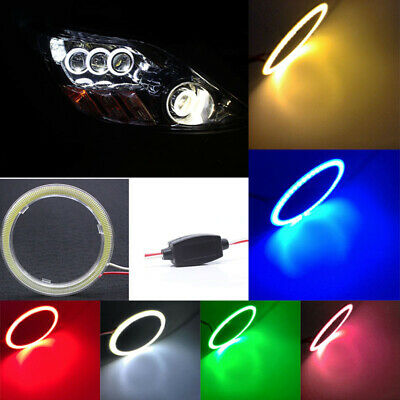 Bright 12V COB LED Halo Ring Angel Eyes LED 70mm 80mm 90mm 100mm 110mm 120mm Set