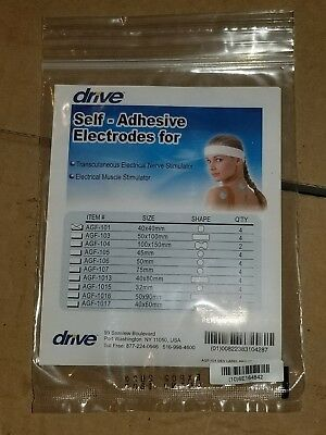 NEW DRIVE TENS UNIT Electrodes Replacements PACK of 4  as Pictured