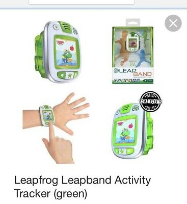 LeapFrog LeapBand Green/Pink Kids Leap Band Activity Watch Ages 4+ Boys Girls
