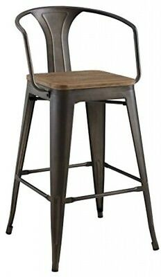 Bar Stools Brown Modern Cafe And Bistro Style Decor With Bamboo Seat (Arm)