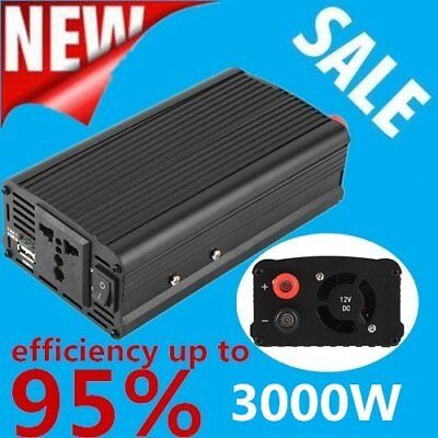 3000W/4000 Watt Power Inverter DC 12V to AC 110V for Car Truck RV Pickup L5