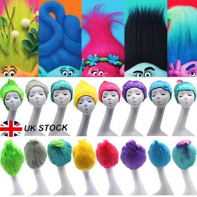 Trolls Poppy Elf/Pixie Props Branch Adult Kid Fun Party Cosplay Wigs Hairpieces