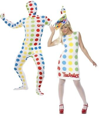 Mens Ladies 1980s Licensed Twister Fancy Dress Costume Novelty Stag 80's New