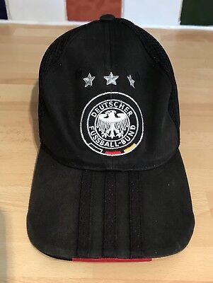 Adidas Official GERMANY Football HAT Black Soccer Cap