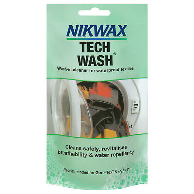 Trespass Nikwax Tech Wash Single Dose Clearner for Camping Clothing and Gear
