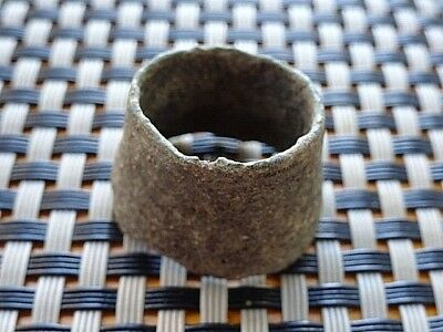 Authentic Medieval Byzantine Bronze Thimble / Very Rare