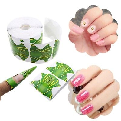 100/500pcs Acrylic Nail Art Form Sticker Self-adhesive Extension Guide UV Tip