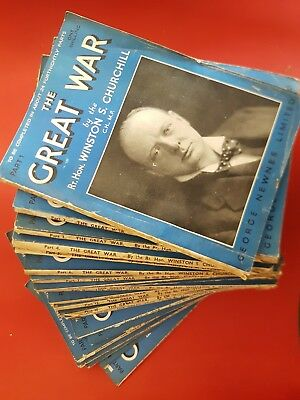 The Great War Winston Churchill Collectable Magazines parts 1-26 Inclusive
