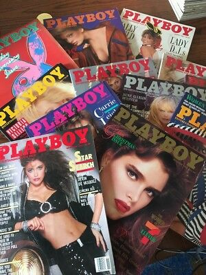 Vintage Playboy Magazine Collection Complete Editions from Year 1986 Lot of 12