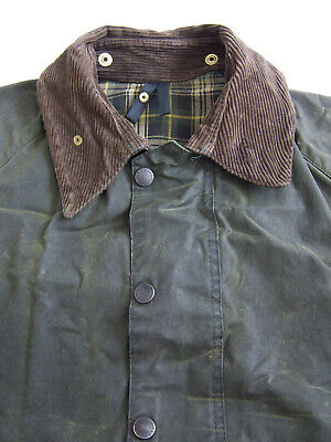 Barbour A150 Beaufort Wax Jacket C40 102cm Medium Large Green Vintage BBt136 #