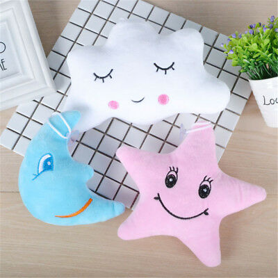 Bed Bedroom Cloud Star Moon Cushion Pillow Soft Toy Baby Nursery Childrens Gifts