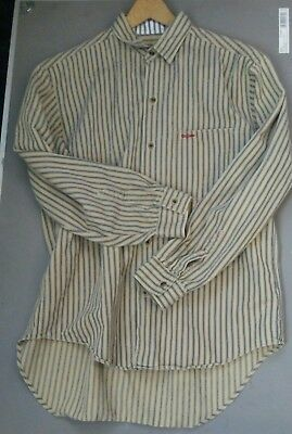 Mens old west shirt, old west, S, cotton, ticking, Shirt