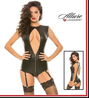 Body in similpelle Sassy Open Front Teddy Allure Lingerie Sexy Fetish Erotic toy