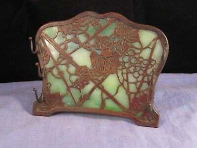 Antique Tiffany Studios Grapevine 1003 Desktop Dip Pen Rack Stand Art Nouveau