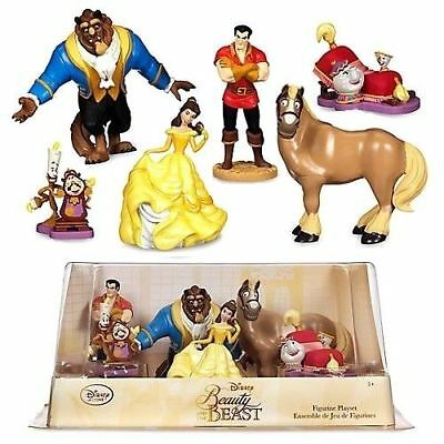 Official Disney Beauty and the Beast Figurine Playset 6 Piece Cake Toppers
