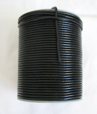 1 metre of Black Round Leather Cord 3mm.