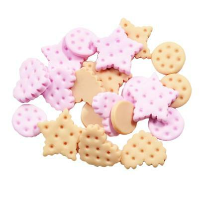 20PC RESIN HEART ROUND STAR COOKIES FLATBACK CABOCHONS Embellishment Decoden