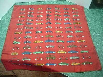 Vintage Ladies Cars of Fiat From 1899 Silk Scarf 30 in. x 30 in. EX Condition