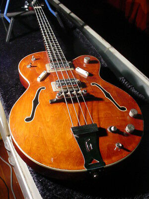 1969 Gretsch Electrotone Bass Model 6073 Good Solid Bass Low Action Ex Condition