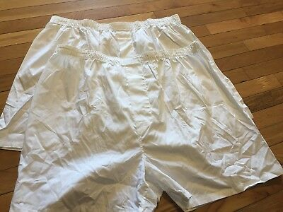 NWOT 2 Pair Stafford Essentials Mens Full Cut Boxers 100% Cotton NEW Size 46
