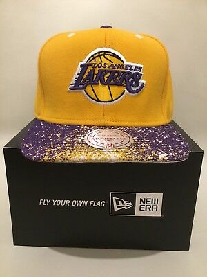 Mitchell & Ness LA Lakers Snapback Baseball Cap 100% Wool