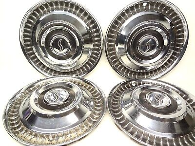 "1959 - 1964 STUDEBAKER 15"" Set 4 Wheel Covers LARK  HAWK COMMANDER REGAL Hubcaps"