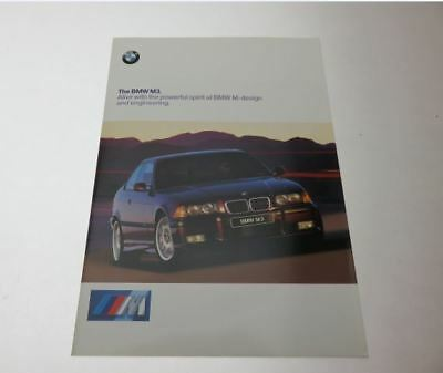 1998 BMW M3 E36 Sales Catalog-Brochure