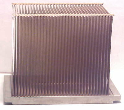 "Heavy Salvaged COPPER Finned Heat Sink 3-1/2""x 2-1/2"" X 2-5/8"" Audio Amp DIY"