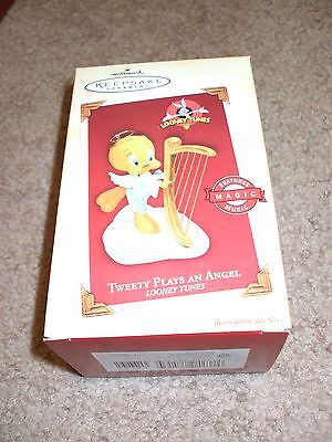 Hallmark Tweety Plays an Angel Ornament Mint in Box (QXI8762) Works