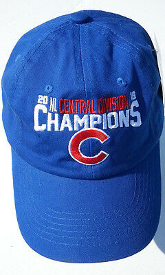a719281c25b Chicago Cubs Baseball Cap Hat 2016 Central Division Champions Adjustable New
