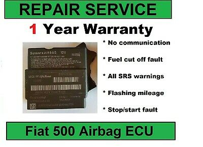 REPAIR SERVICE for Fiat 500, Ford 51870005, 51918659 airbag ECU - no comms