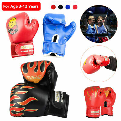 New Kids Children Cartoon PU Sparring Grappling Training Boxing Gloves Age 3-12
