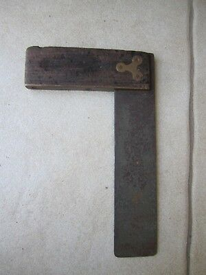 Vintage Carpenter Square tool Timber/Brass fittings