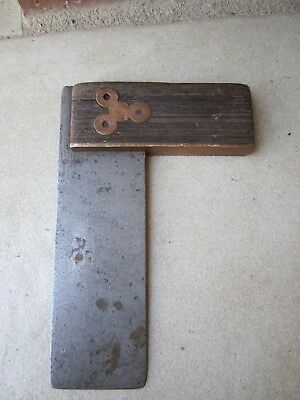 Collectible Vintage Carpenter Square tool Timber/Brass fittings