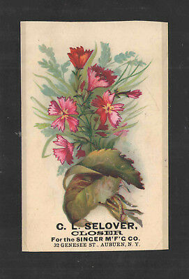 1880s C L SELOVER CLOSER SINGER MFG CO AUBURN NY VICTORIAN TRADE CARD