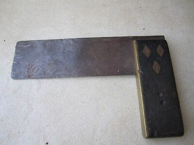 Carpenter Square vintage collectible tool Timber/Brass fittings