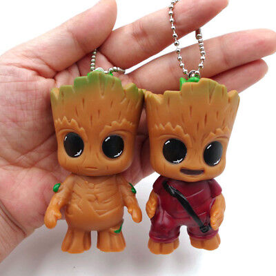 Keyring Guardian of the Galaxy Vol.2 Baby Groot Figure Key Chain Statue Gift